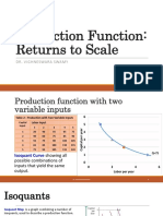 15. Production Function Returns to Scale