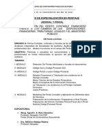 III CURSO DE ESPECIALIZACION EN PERITAJE