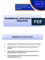 IV. PPP on Specifications Writing