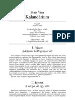 Boris Vian Kalendárium