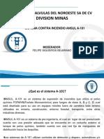 TUBERIAS Y  DIVISION MINAS SISTEMA CONTRA INCENDIO ANSUL A-101