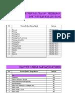 Daftar Kuantitas dan Harga bahan