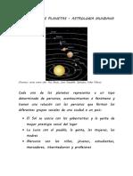 SIGNIFICADO DE PLANETAS