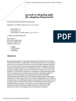 A disciplined approach to adopting agile practices_ the agile adoption framework _ SpringerLink