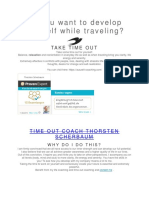 Do You Want to Develop Yourself While Traveling