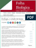 ZoologiaoestudodafaunaFolhaBiolgica