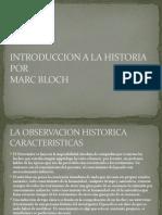 INTRODUCCION A LA HISTORIA de Bloch