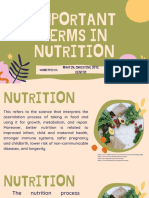 MARTIN DENT3C - NUTRITION IMPORTANT TERMS