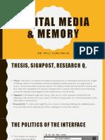 Digital Media Memory