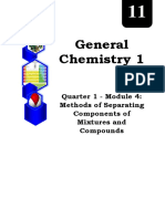 GENERAL CHEMISTRY_Q1_Mod4_Methods of Separating Components of Mixtures and Compounds