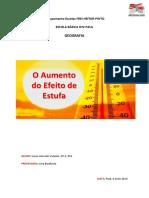 O Aumento do  Efeito de estufa - word.pdf