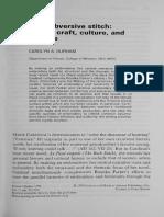 "Durham, C. A, (1990) ""The subversive stitch- female craft, culture, and écriture"" enWomen's Studies, Inglaterra- Gordon and Breach, Science Publishers, Inc, Vol. 17, pp. 341-359.pdf"