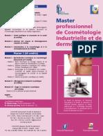 Master professionnel de Cosmétologie Industrielle et de dermopharmacie