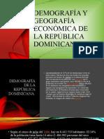 Demografía y geografía económica de la república dominicana.