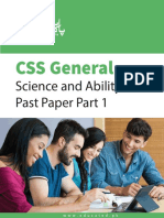 General Science and Ability CSS Past Paper Part 1