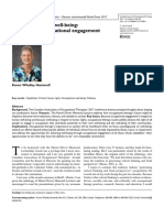 Opportunities for well being the right to occupational engagement