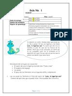 Guía de lenguaje_Grado Primero