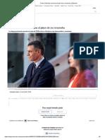 Pedro Sánchez consuma el plan de su revancha _ Editorial