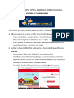 Guía Para Inscribir Tu Empresa de Sociedad de Responsabilidad Limitada en Fundaempresa
