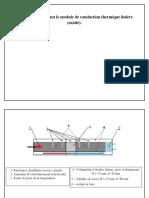 Schéma illustrant le module de conduction thermique linière