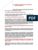 A CASA DO PAI E AS MUITAS MORADAS NO CONTEXTO ORIGINAL BÍBLICO