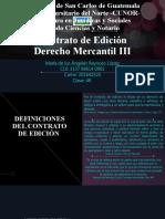 Contrato de Edición- Derecho Mercantil III