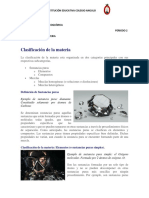 FISICOQUIMICA SEXTO guía 1 P2 fisicoquimica 6 CLASIFICACIÓN DE LA MATERIA
