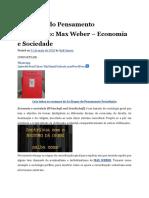 As Etapas do Pensamento Sociológico Max Weber