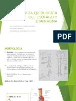 PATOLOGIA QUIRURGICA DEL ESOFAGO Y DIAFRAGMA