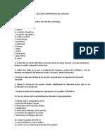taller de componentes del lenguaje