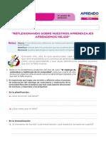 FICHA DE AUTOAPRENDIZAJE COMUNICACIÓN -SESION EVALUACIÓN QUINTO GRADO