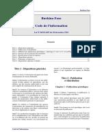 Burkina - Code information