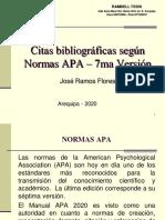Citas Segun Apa 7ma Versión. Jose Ramos Flores