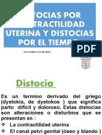 Distocias por contractilidad uterina y distocias por el tiempo