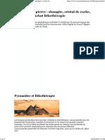 Pyramide en pierre _ shungite, cristal de roche, améthyste _ Achat lithothérapie