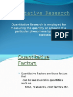 Quantitative Research final