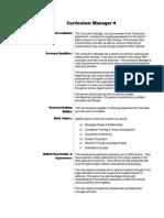 Curriculum-Manager