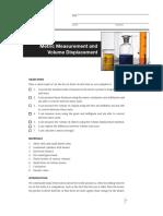 Metric Measurement and Volume Displacement Lab Activity