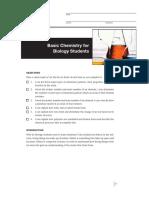 Basic Chemistry for Biology Lab Activity