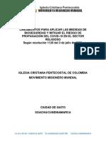 PROTOCOLOS DE BIOSEGURIDAD MOVIMIENTO MISIONERO MUNDIAL CIUDAD DE QUITO