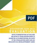 Evaluation-Addendum-French