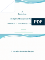 Presentation - Multiplex Management System