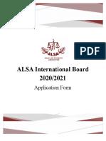 ALSA International Board Application Form 2020-2021
