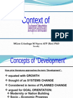 Context of Development Administration