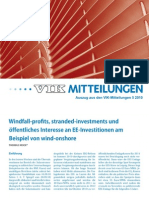 Windfall-Profits und Stranded Investments