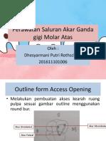 Perawatan Saluran Akar Ganda gigi M1 RA