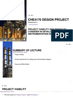 CHE4170 Workshop 9 Project Viability and Things to Consider in Developing PID
