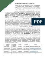 ACTA DE ASAMBLEA DE CIUDADANOS Y CIUDADANAS DEL PUEBLITO