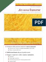 Ars nova francese (schema di Garrit Gallus e della Messe de Notre Dame)