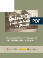 Guerra Civil y memoria histórica en Alicante
